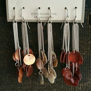 Jewelry - 3 Pairs of Dangle Earrings